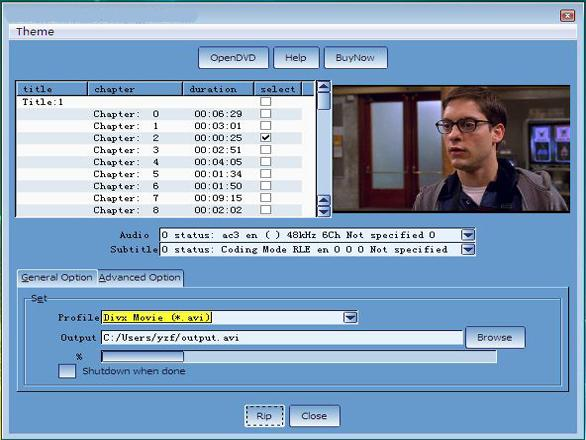 Screenshot of CheapestSoft Fast DVD Ripper 3.0.10
