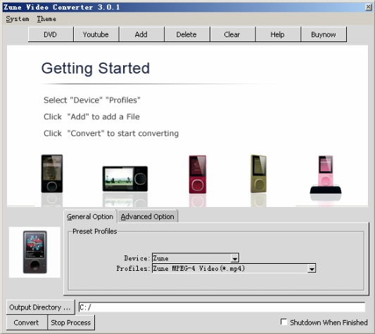 Click to view CheapestSoft Zune Video Converter 2.0.2 screenshot